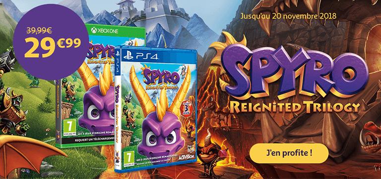 Du 7 au 13 novembre, SPYRO Reignited Trilogy à 29.99€ au lieu de 39.99€
