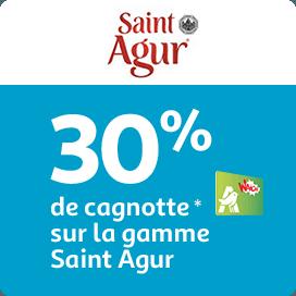 30% de cagnotte Waaoh! sur la gamme Saint Agur