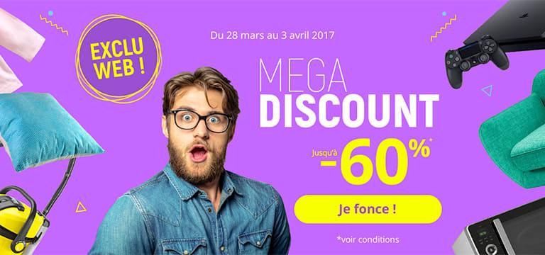 Mega Discount, jusqu'à -60%