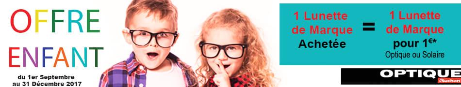 1 lunette de marque achetée = 1 lunette de marque pour 1 euro