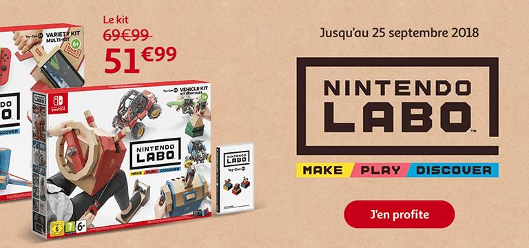 jusqu'au 25 septembre : Nintendo Labo