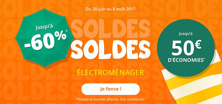 Du 18 au 24 Juillet : Soldes Électroménager jusqu'à -60%
