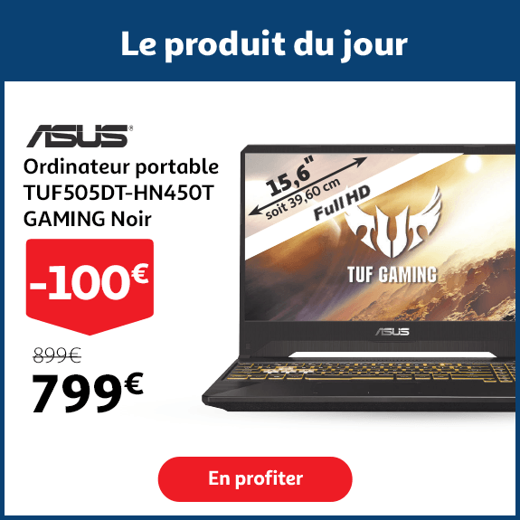 ASUS Ordinateur portable TUF505DT-HN450T GAMING Noir