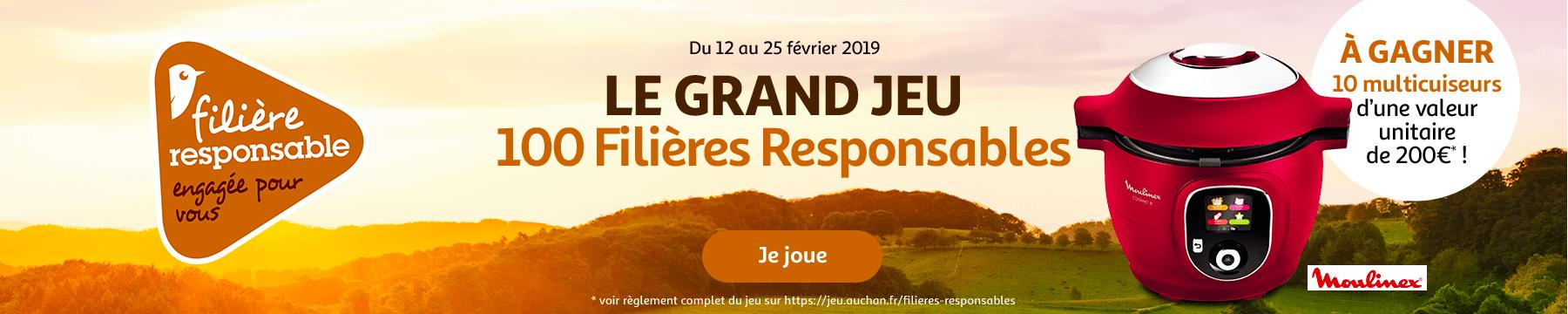 Du 12 au 25 février 2019 : Le grand jeu 100 Filières responsables