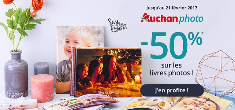 Auchan photo, jusqu'à -50% sur les livres photos !