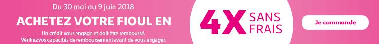 Du 30 mai au 09 juin, achetez votre fioul en 4 fois sans frais : lien vers PDF