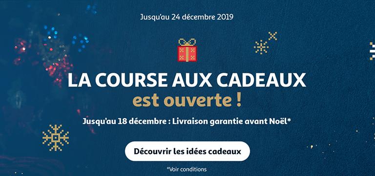 La Course aux cadeaux est ouverte. Jusqu'au 18 Décembre : commandez pour être livré avant Noël*
