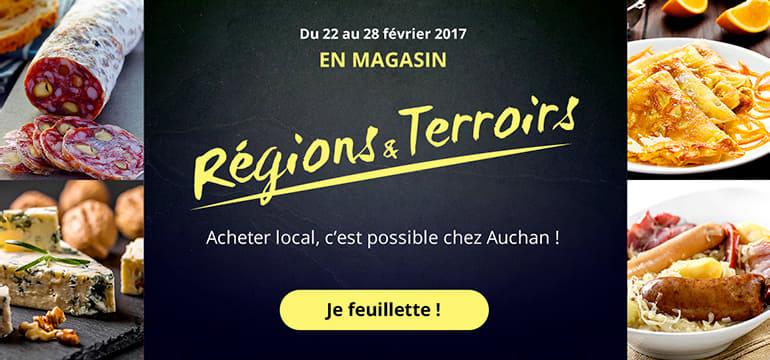 Régions & terroirs, achetez local, c'est possible chez Auchan !