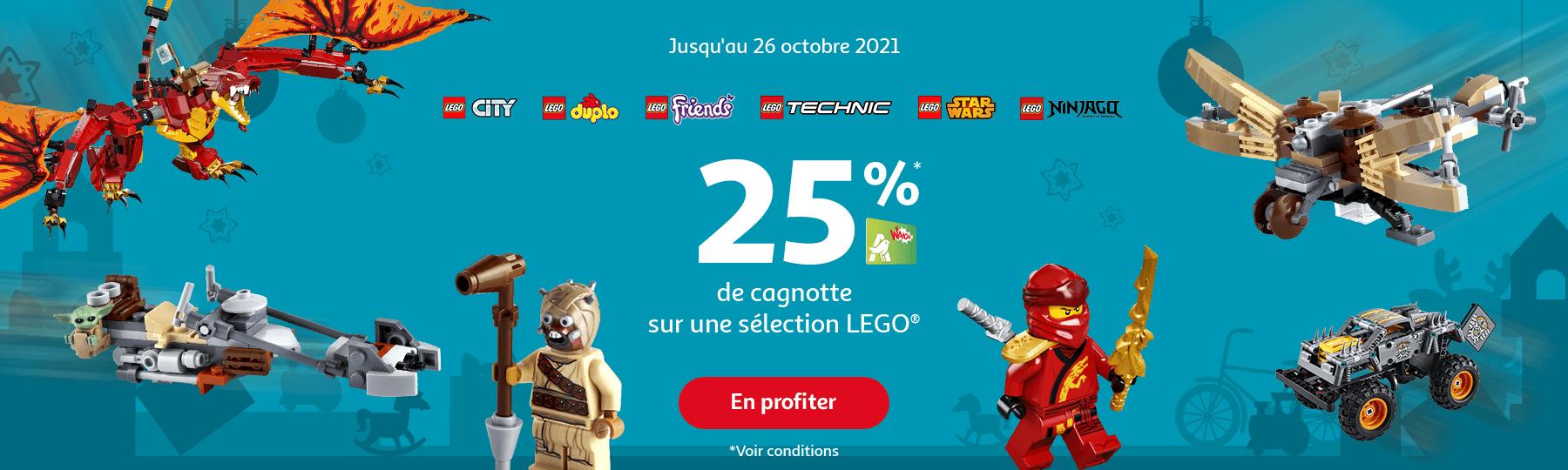 25% de cagnoette sur une sélection LEGO