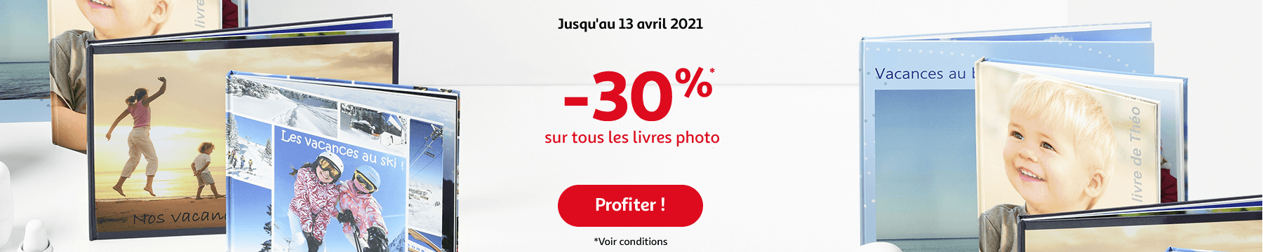 -30% sur tous les livres photo, jusqu'au 13 avril 2021