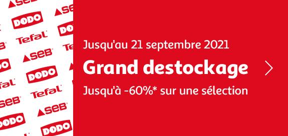 Grand destockage, jusqu'à -60%