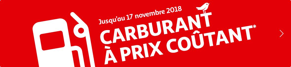 Jusqu'au 17 novembre, carburant à prix coûtant chez Auchan