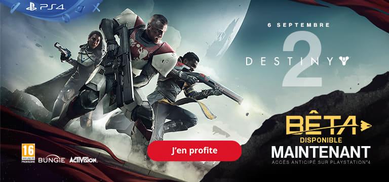 Destiny 2 : Beta disponible