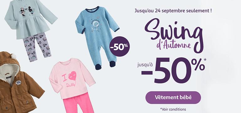 Jusqu'au 24 septembre seulement : Swing d'automne jusqu'à -50%*