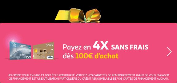 Jusqu'au 15 décembre, payez en 4X sans frais dès 100€ d'achat.