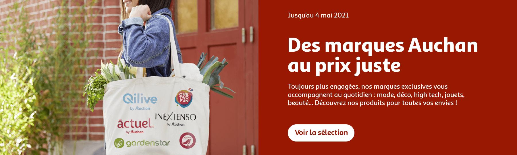 Des marques Auchan au prix juste, jusqu'au 4 mai 2021