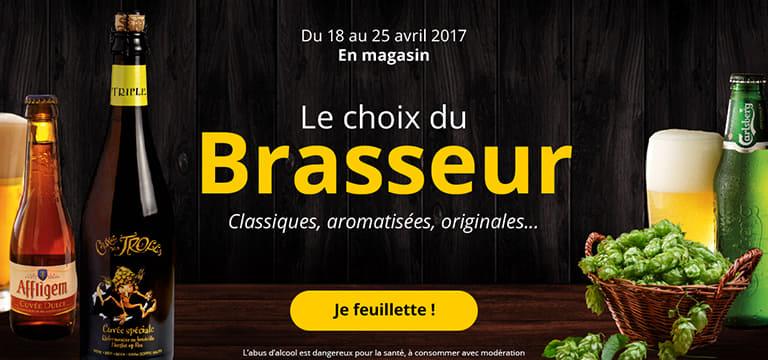 Du 18 au 25 avril 2017 en magasin : le choix du brasseur