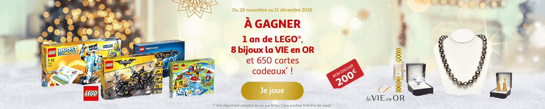 Grand Jeu Auchan - A gagner 1 an de LEGO