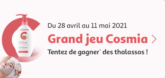 Grand jeu Cosmia, tentez de gagner des thalassos ! du 25 avril au 11 mai 2021