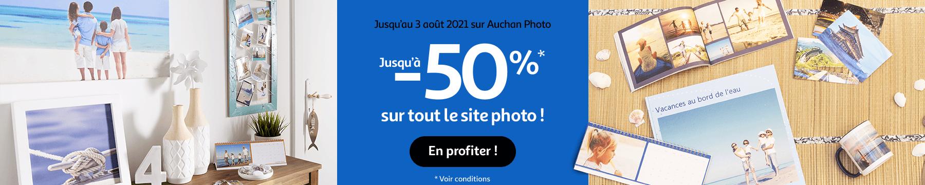 jusqu'à -50% sur tout le site photo !