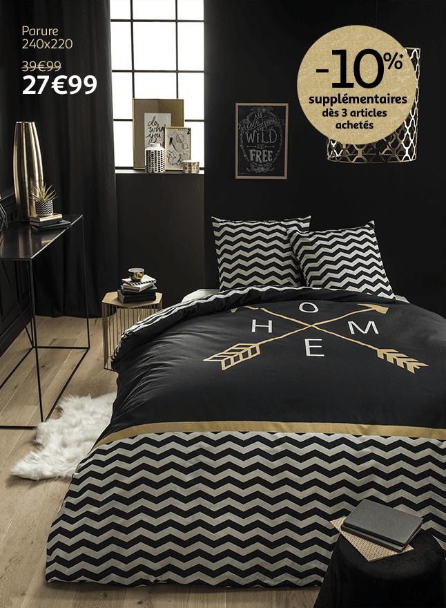 Nouvelle collection linge de lit jusqu'à -50%*