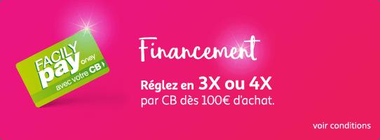 Financement Réglez en 3X ou 4X par CB dès 100e d'achat