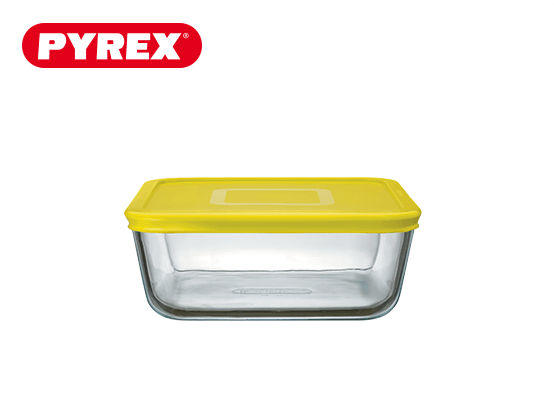 Pyrex® Plat carré 0,85L avec couvercle