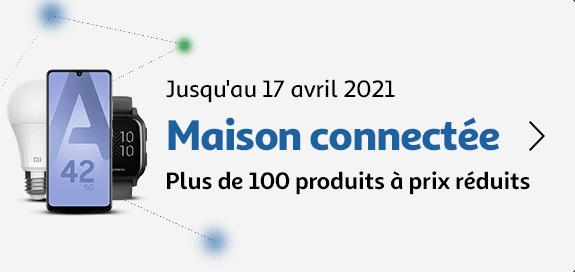 Maison connectée, plus de 100 produits à prix réduits, jusqu'au 17 avril 2021