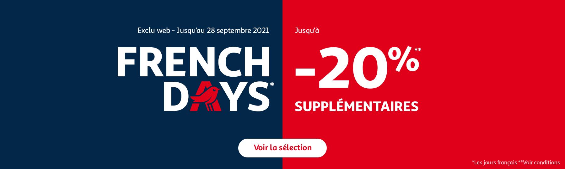 French Days, jusqu'à -50% et jusqu'à -20% supplémentaires