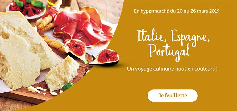 En hypermarché du 20 au 26 mars 2019 : un voyage culinaire haut en couleurs !