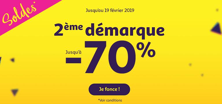 Du 09 janvier au 19 février 2019 : Soldes jusqu'à -70%