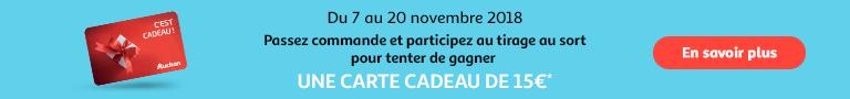 Du 7 au 20 novembre : 15€ à gagner ! Passez commande et participez au tirage au sort