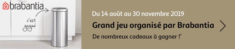 Grand jeu organisé par Brabantia du 14 août au 30 novembre 2019, de nombreux cadeaux à gagner !