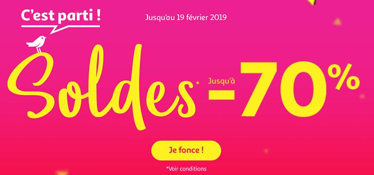 Du 09 janvier au 19 février 2019 : Soldes jusqu'à -60%