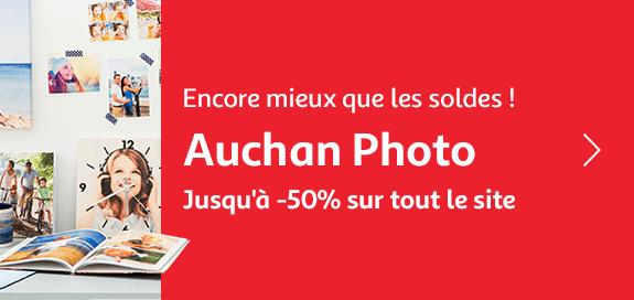 Auchan photo, jusqu'à -50% sur tout le site