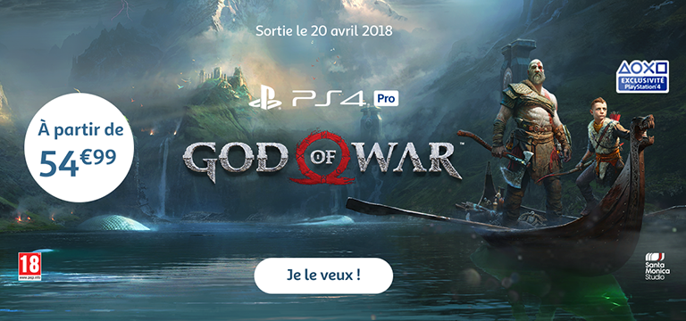 Le 20 avril 2018 : sortie de God of War, à partir de 59,99€