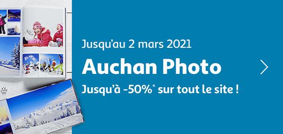 Auchan photo, jusqu'à -50% sur tout le site !