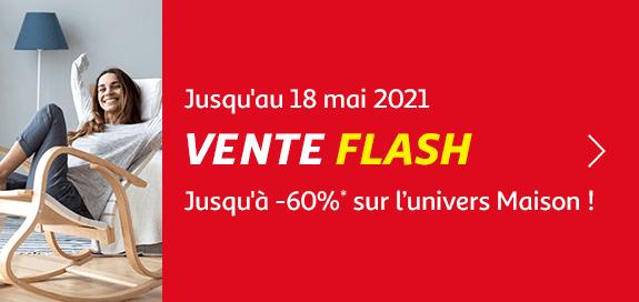 Vente flash, jusqu'à -60% sur l'univers maison !, jusqu'au 18 mai 2021