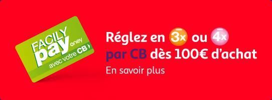 Financement : réglez vos achats en 3 ou 4 fois par CB dès 100€ d'achats