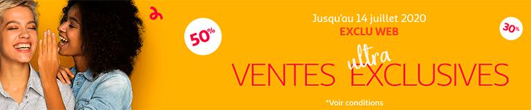 Ventes ultra exclusives, jusqu'au 14 juillet 2020