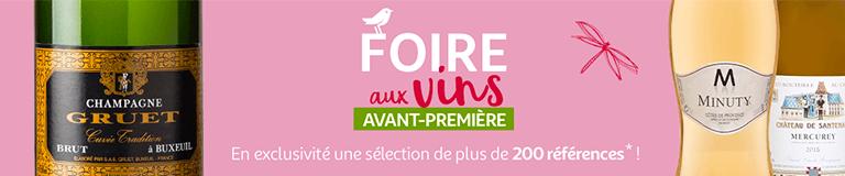 Retrouvez une sélection de 200 références pour la foire aux vins en avant-première !