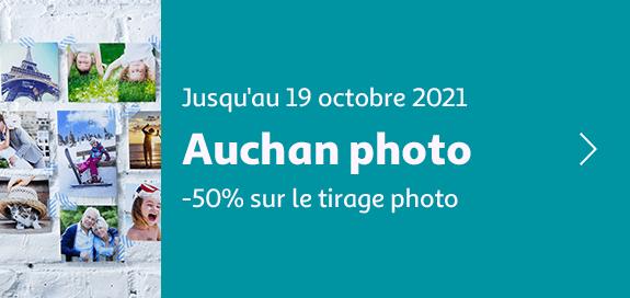 Auchan photo -50% sur le tirage photo