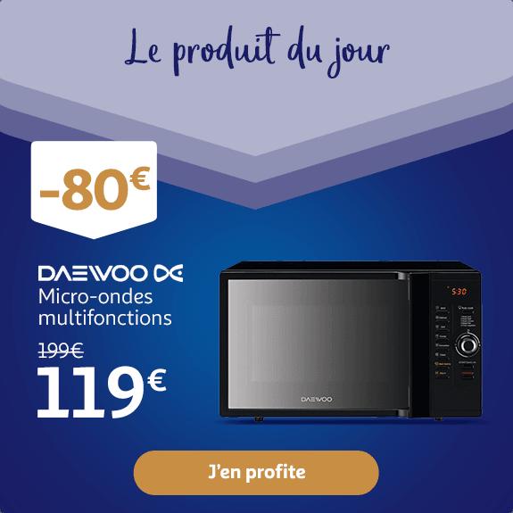 Micro-ondes multifonctions DAEWOO KOC 9C0TBM : 119€ au lieu de 199€