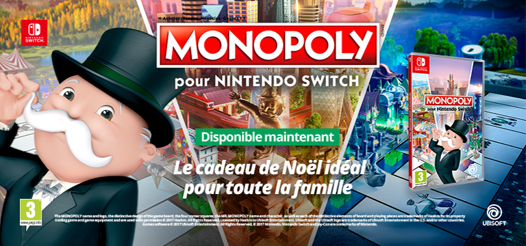 Monopoly pour Nintendo SWITCH !