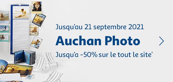Auchan photo Jusqu'à -50% sur tout le site !