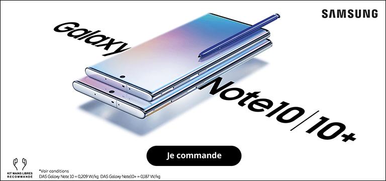 Commandez le Galaxy Samsung Note 10