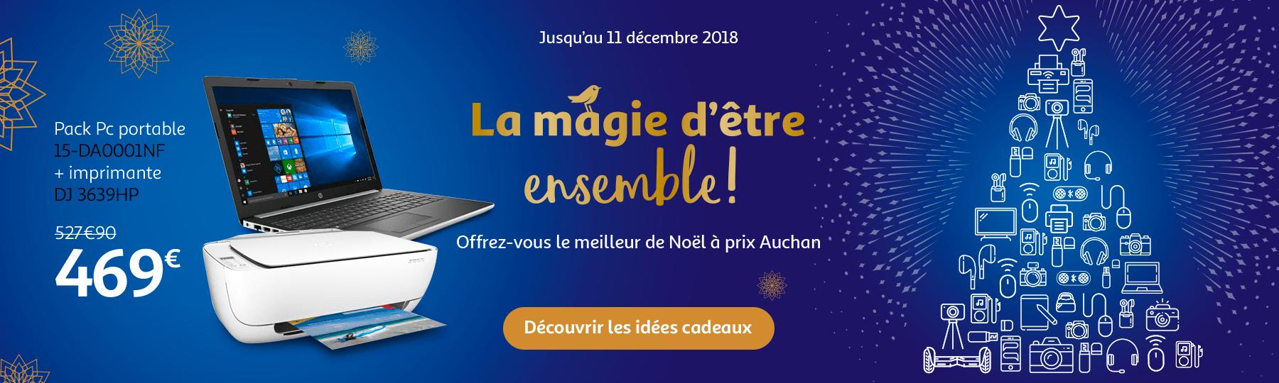 Jusqu'au 11 décembre 2018, offrez vouys le meilleur de Noël à prix Auchan