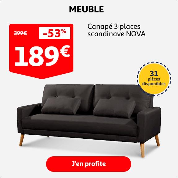 Canapé scandinave NOVA