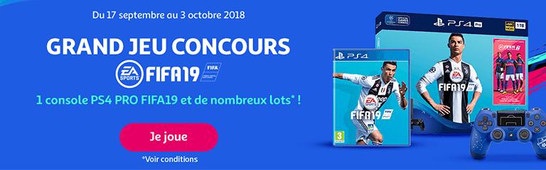Du 17 septembre au 3 octobre 2018 : Grand jeu concours FIFA19