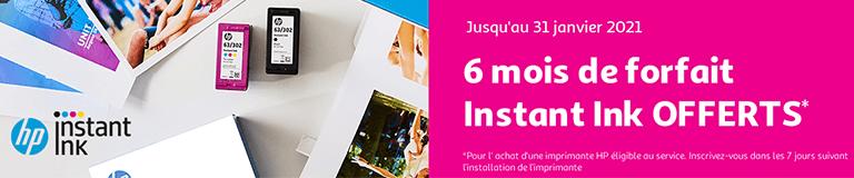 Hp instant ink 6 mois offerts, jusqu'au 31 janvier 2021
